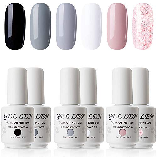 Where to find gel nail polish white and black?