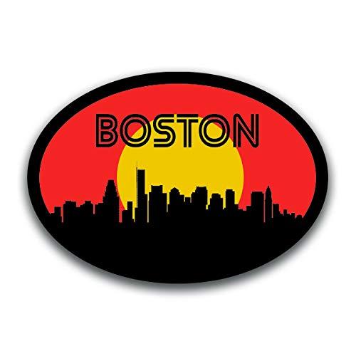 (Boston Massachusetts Skyline Vinyl Decal Sticker   Cars Trucks Vans SUVs Windows Walls Cups Laptops   Full Color Printed   5.5 Inch   KCD2576)
