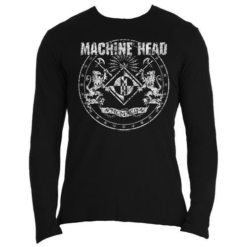 Machine Head Classic Crest Official Mens New Black Long Sleeve Shirt