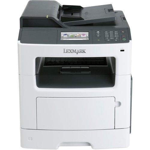"Lexmark Mx410de Laser Multifunction Printer . Monochrome . Plain Paper Print . Desktop . Copier/Fax/Printer/Scanner . 38 Ppm Mono Print . 1200 X 1200 Dpi Print . 38 Cpm Mono Copy . Touchscreen . 1200 Dpi Optical Scan . Automatic Duplex Print . 300 Sheets Input . Gigabit Ethernet . Usb ""Product Type: Printers/Multifunction Printers"""