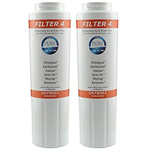 Pure Life Filter 4 Maytag UKF8001 Compatible With Whirlpool 4396395 EDR4RXD1 Puriclean II Kenmore 9006 PREMIUM Refrigerator Replacement Water Filter Fits KitchenAid Jenn-Air Amana Kenmore – 2 Pack