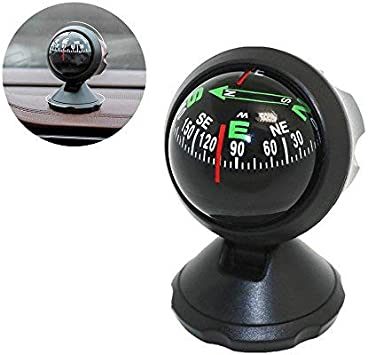 2.1 x 2.2 x 2.3 Inches Always Drive Bike or Walk in the Right Direction Thanks to This Small and Compact Compass HR 10310601 Self-adhesive Automobile Dashboard Compass