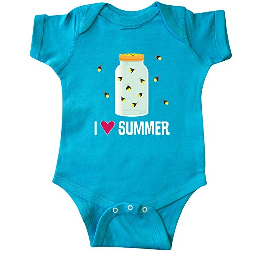 inktastic - I Love Summer Cute Fireflies Infant Creeper 6 Months Turquoise 35582]()