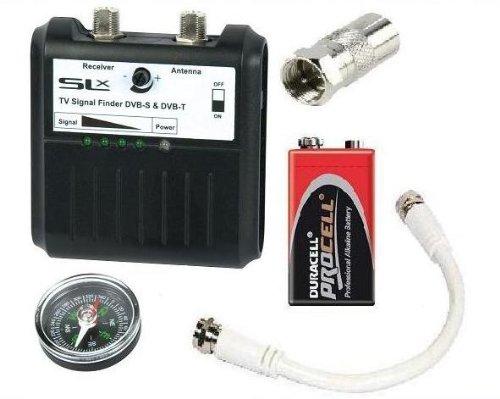 Electromart Digital Tv Aerial Satellite Sat Sky Signal Finder Meter Kit