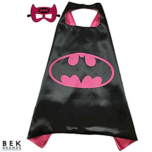 Bek Brands Children's Superhero Costume Cape and Mask Sets (Batgirl)