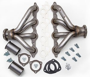 Hedman Hedders 62520 Block Hugger Street Rod Headers EngineSwap ForInstalling Chevy LSX Engines Tube Size 1.5 in. Collector Size 2.5 in. Incl. Headers/Gaskets/3 Bolt Adapter/Mtg. Hdw. Uncoated Block Hugger Street -