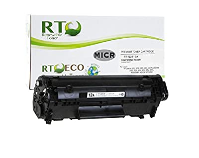 Renewable Toner 12A Compatible MICR Toner Cartridge Replacement HP Q2612A for HP LaserJet M1319f 3015 3020 3030 3050 3052 3055 1010 1012 1018 1020 1022nw Series
