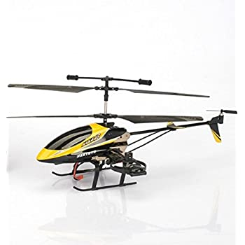 """Haktoys HAK448 4 Channel 15"""" RC Helicopter, Gyroscope, Rechargeable, Ready to Fly, and with LED Lights - Colors May Vary"""