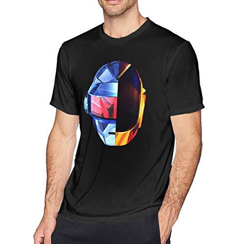 DeniseJPeterson Man's Shirt Daft Punk Youth Short Sleeve Tee Shirt L Black