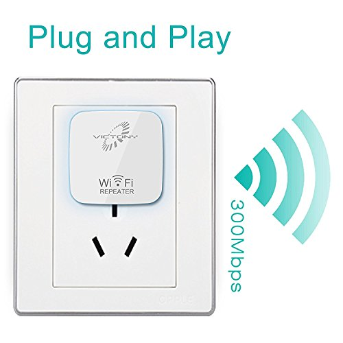VICTONY 300 Mbps Wireless-N WiFi Long Range Extender, With 360 Degree Full Coverage WIFI Repeater