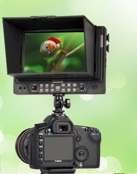 Mustech 7'' On-camera Hd LCD Field Monitor w/ Hdmi Ypbpr in Component in Composite In(no Battery Included,no ARM Included) by Mustech