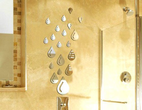 3D Wall Stickers NYKKOLA Water Drop Raindrop Modern Stylish Fashion Art  Design Removable DIY Acrylic 3D Mirror Wall Decal Wall Sticker For Bathroom  Sitting ... Part 57