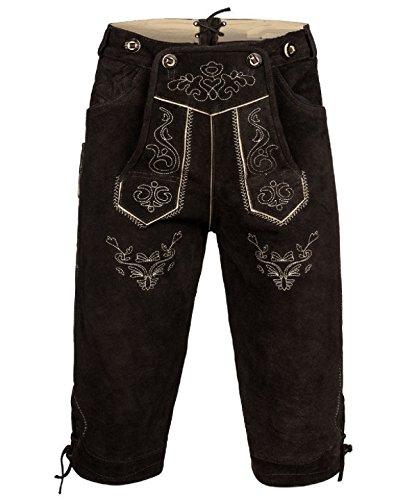 trachten lederhosen, Oktoberfest lederhosen, German costumes, oktoberfest outfits (38, dark brown) (German Outfit For Oktoberfest)
