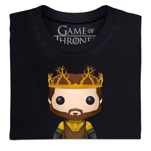 Official Game of Thrones - Funko POP Renly Baratheon Camiseta, Para mujer Negro