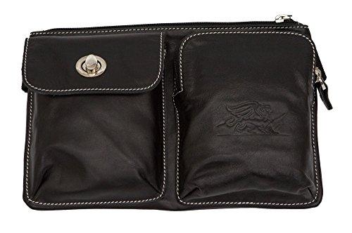Hip Slung Belt (Hybrid Hip Leather Fanny Pack Waist Bag Belt Pouch for Mobile Phone Travel Accessories Wallet Money)