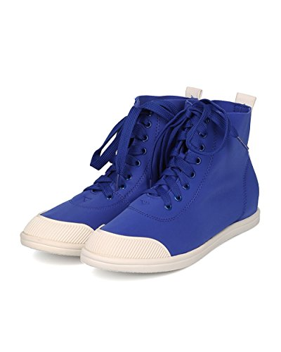 Liliana Kvinnor Elastan Hög Top Sneaker - Casual, Skola, Street Fashion - Snörning Sneaker - Ge01 Av Flottan