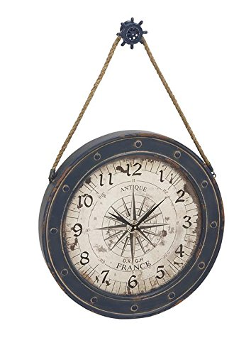Deco 79 55579 Metal Wood Wall Clock, 24