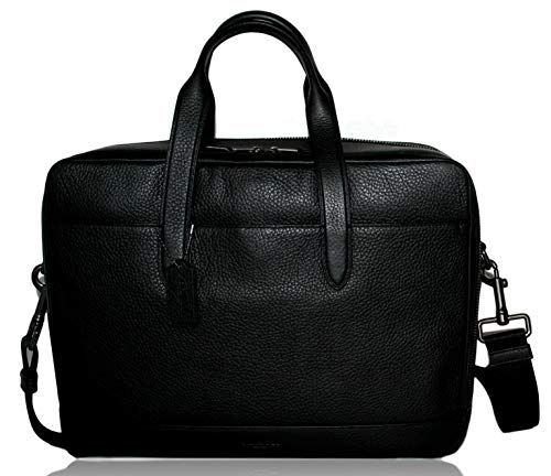 Coach Mens Leather Laptop Overnight Computer Bag Black - Coach Type