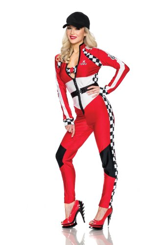Playboy Dangerous Curves Costume, Multi, (Race Car Halloween Costume)