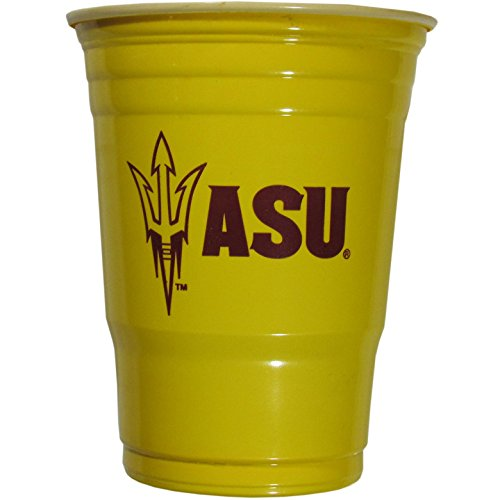 Arizona State Party (NCAA Plastic Game Day Cups, Arizona State Sun Devils,18-Ounce, Sleeve of 18)