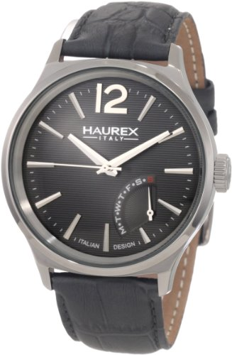Haurex Italy Men's 6J341UG1 Grand Class Gray PVD Case Day Indication Watch by Haurex
