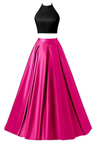 long black and pink prom dresses - 3