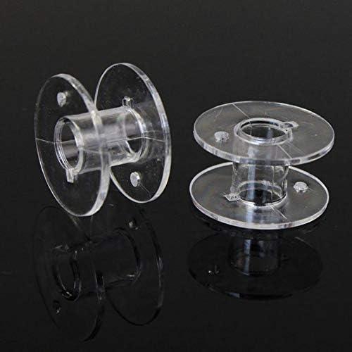 FiedFikt Bobinas de plástico transparente para máquina de coser, accesorios de costura, bobinas para Brother Singer Janome, 10 unidades: Amazon.es: Hogar