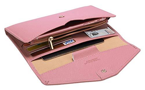 Lazoppent Passport Holder Travel Wallet Tri-fold Document Organizer Passport Cover Case by Lazoppent (Image #2)