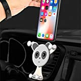 Universal Smartphone Car Air Vent Mount Phone Holder Cradle Compatible with iPhone X 8 8 Plus 7 7 Plus SE 6s 6 Plus 6 5s 5 4s 4 Samsung Galaxy S6 S5 S4 LG Nexus Sony Nokia and More (Silver)