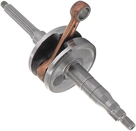 Xfight-Parts Kurbelwelle fuer 10mm Kolbenbolzen Schaftdurchmesser Variomatik 13,2mm gewinde links//rechts M10x1.25 2Takt 50ccm 1E40QMB AC Rieju Tauris Firefly 50
