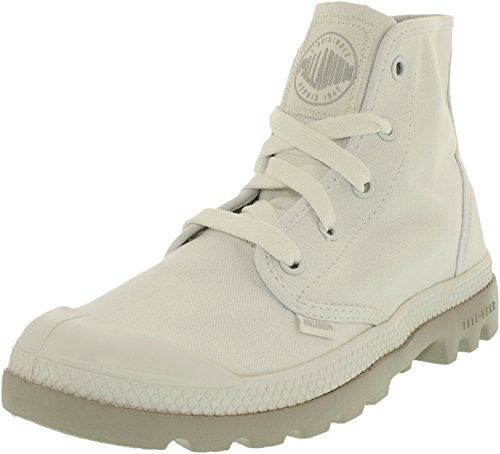 Palladium Women's Pampa Lite Canvas White/Vapor Ankle-High Canvas Fashion Sneaker – 9.5M