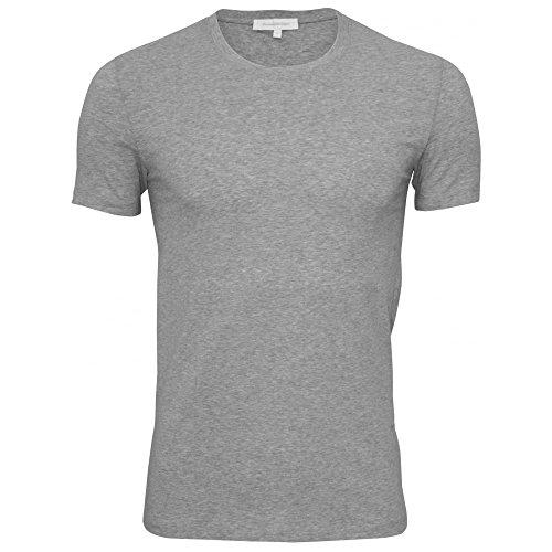 Ermenegildo Zegna Men's Stretch Cotton Crew-Neck T-Shirt, Grey Melange Medium Grey - For Zegna Men