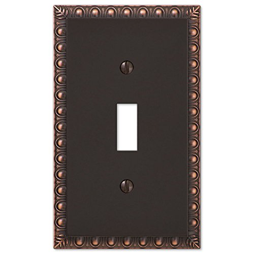 Decorative Oil Rubbed Bronze Light Switch Cover. DecoratIve Wall Plate For Single Toggle Switch Plate For Home Or - Craft Co Hobby Uk