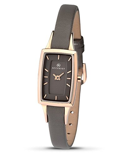 Accurist Ladies Leather Strap Watch 8076