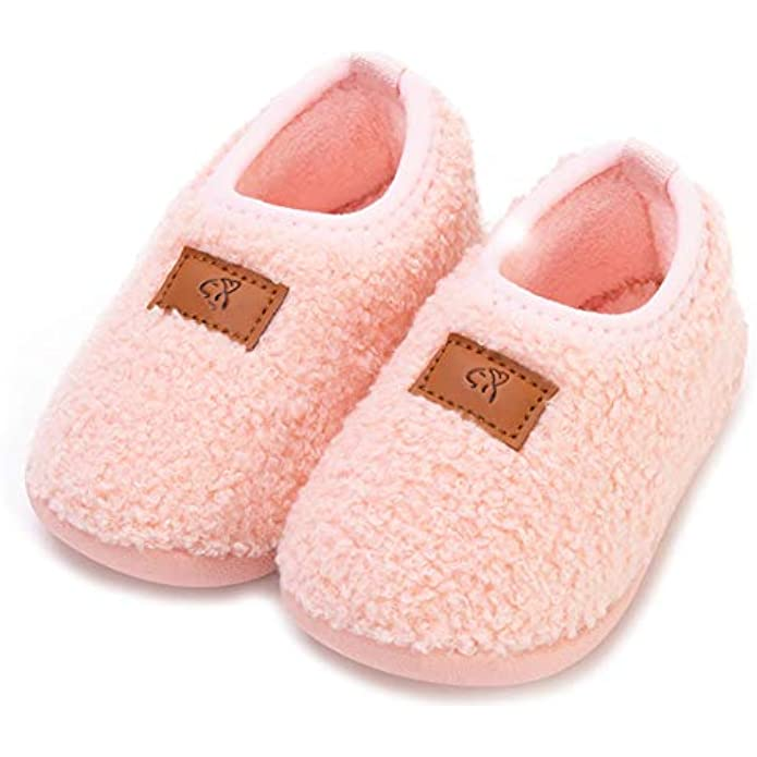 Anddyam Kids Toddler Slipper Socks Non-Slip Knit Indoor Home Shoes for Girls and Boys