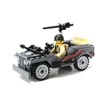 Battle Brick WW2 4 x 4 Utility Vehicle Custom Set: Toys & Games