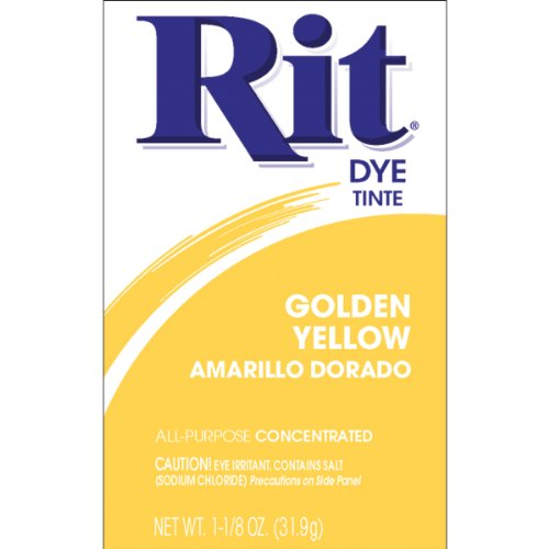 Dye Gold Tie (Rit Dye Powder-golden Yellow)