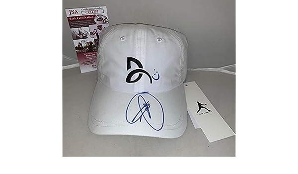 27b7ac16e Novak Djokovic signed White Lacoste Novak Tennis Cap Hat autographed ...