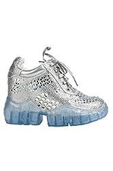 Wedge Sneaker With Rhinestone