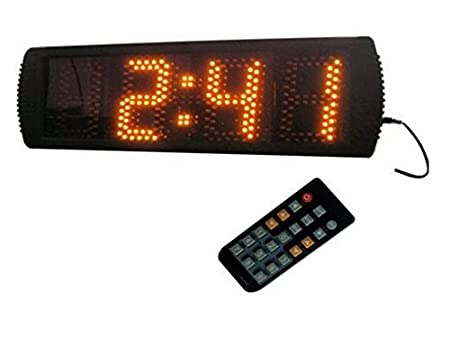 Large 5/'/' LED Race Timing Clock Count Down//Up In Minutes Seconds Remote Control