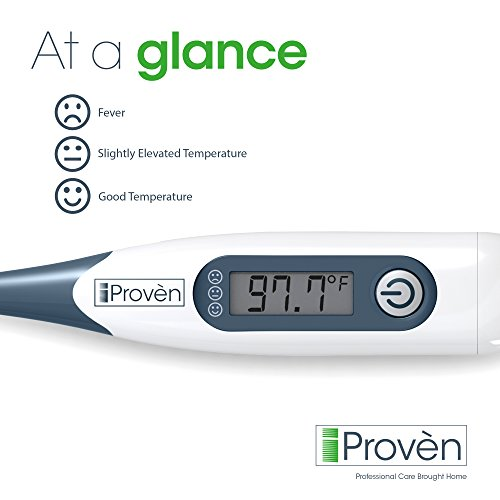 Best Digital Medical Thermometer, Easy Accurate and Fast 10 second Reading Oral and Rectal Thermometer for Children and Adults with Fever Indicator