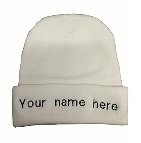 0254ef8f14c Image Unavailable. Image not available for. Color  CHEFSKIN Lot of 2  Personalized Embroidery Custom Beanie Hat ...