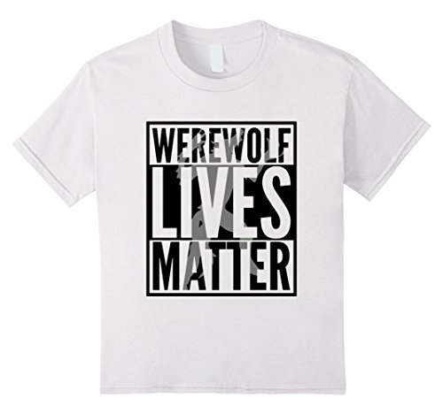 Kids Funny Halloween Costume Ideas 2017 Werewolf Shirt 8 White (Pair Costume Ideas For Halloween)