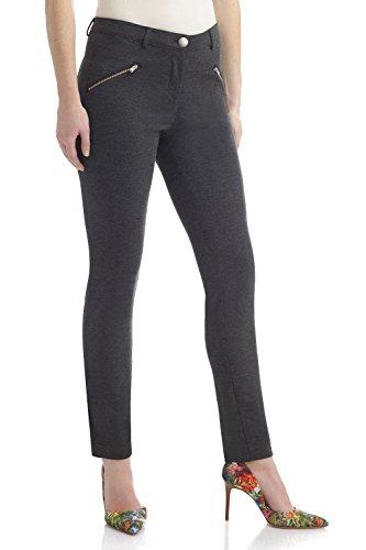 Rekucci Women's Hi-Density Knit 5 Pocket Modern Skinny Pants w/Zippers ()