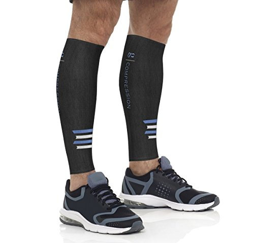 決して解く保安(Large) - Calf Compression Sleeves for Women and Men - Boosts Circulation and Blood Flow - Relief for Shin Splints - Best for Running, Workout, Sports, Travel, Office, Maternity - Prevent Swelling and Blood Clots - Perfect for Everyday Use