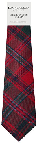 Stewart Of Appin Plaid (Modern) Soft Pure Wool Necktie