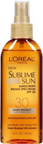 L'Oreal Paris Spf 30 Sublime Sun Oil Spray, 5 Fluid Ounce (Pack of 3) by L'Oreal Paris (Image #1)