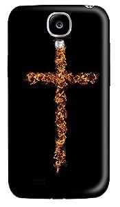 Samsung S4 Case Flame Art Cross 3D Custom Samsung S4 Case Cover