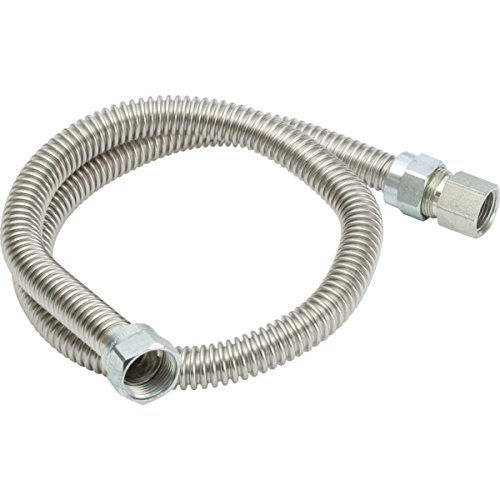 ITEM#217210 5/8'' OD (1/2'' ID) x 36'' Stainless Steel Gas Connector