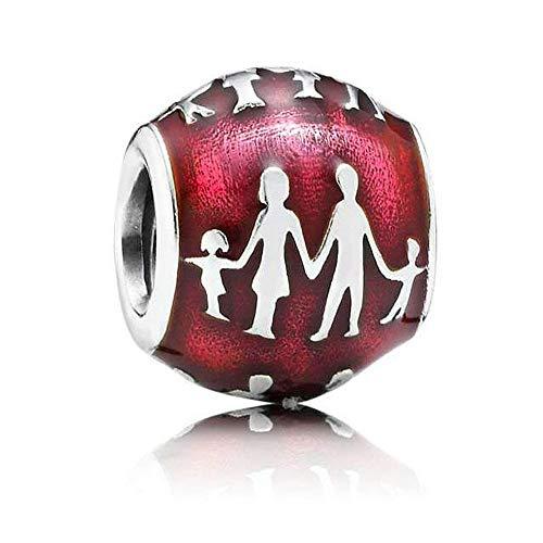 Romántico Amor Family Silhouette Violet Charm Family Forever 925 Sterling Silver Beads fit Pandora - Violet Pandora